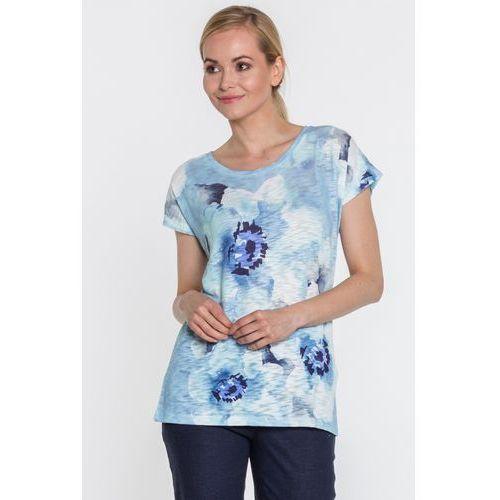 Lara fabio Dzianinowa bluzka w kwiaty -