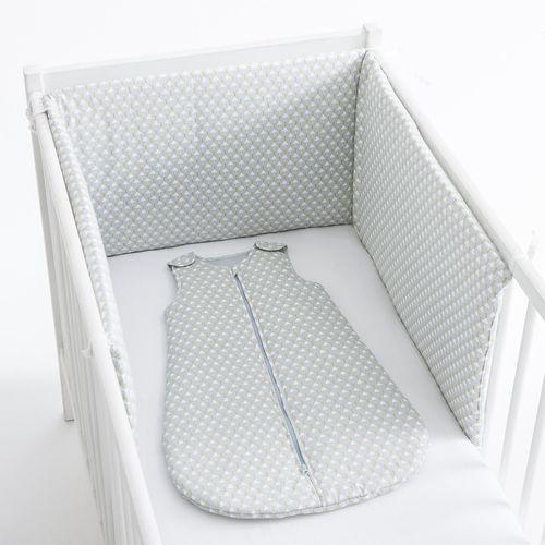 Wzorzysty ochraniacz do łóżeczka ze szczebelkami, 100% bawełna perkalowa