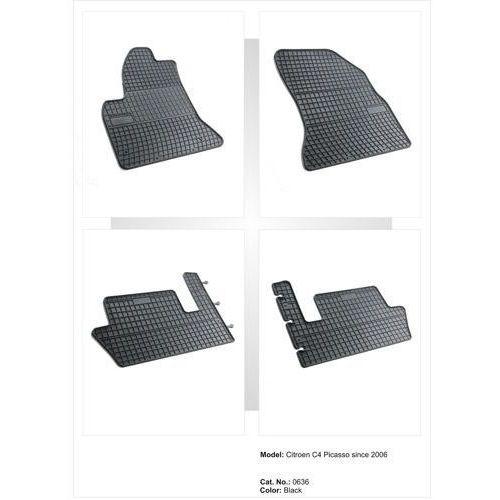 Dywaniki gumowe czarne z kompletem stoperów - Citroen C4 Picasso (I) 2006-2012