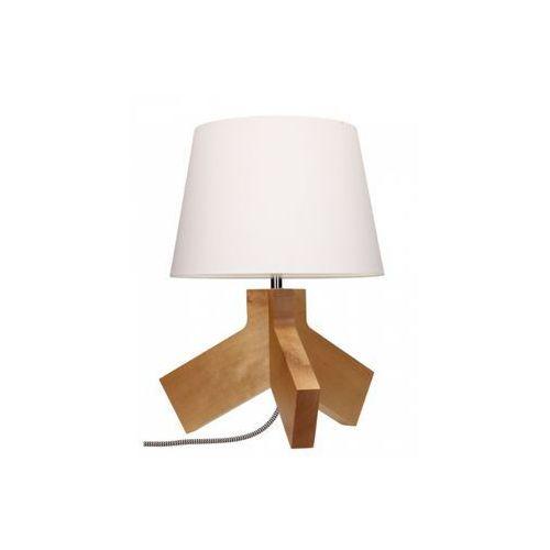 Lampa stołowa spot light tilda 1x60w e27 brzoza/chrom/czerwono-biały/biały 6611560 marki Spotlight
