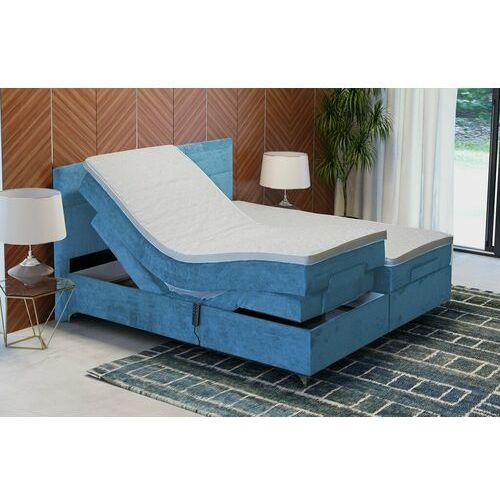 """Łóżko kontynentalne """"DREAM"""" z funkcją elektryczną - błękit, kolor niebieski"""