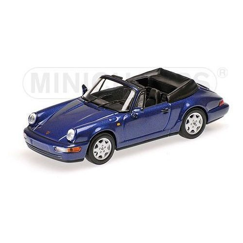 Porsche 911 Carrera 2 Cabriolet 1990 (blue metallic) (4012138121065)