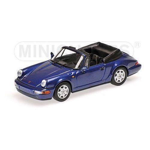 Porsche 911 carrera 2 cabriolet 1990 (blue metallic) marki Minichamps