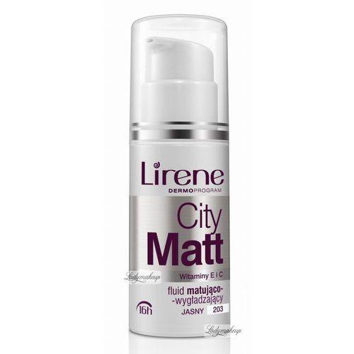 Lirene  - city matt - fluid matująco-wygładzający - 206 - pastelowy beż