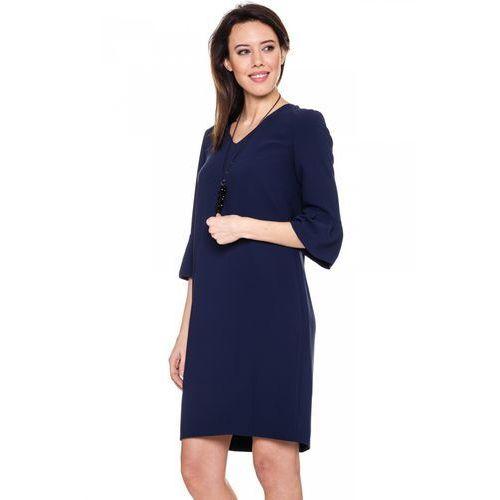 Granatowa sukienka w serek - marki Vito vergelis