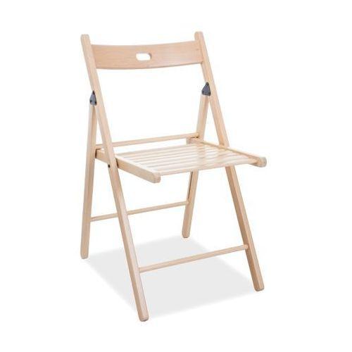 Drewniane krzesło składane smart ii marki Signal