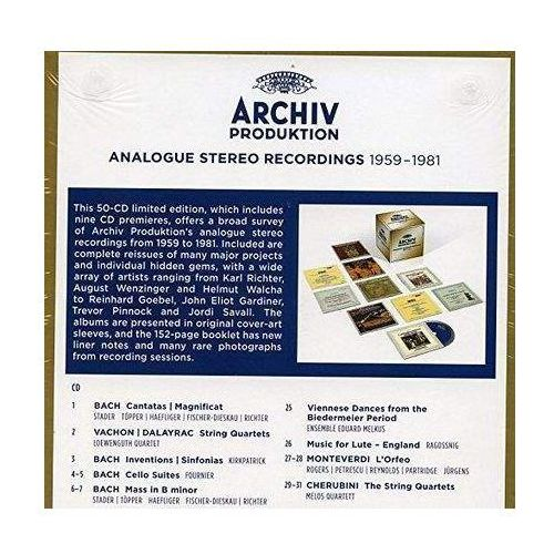 Archiv produktion analogue stereo recordings 1959-1981 marki Universal music