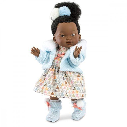 Lalka Valeria Afrykanka w kolorowej sukience 28 cm