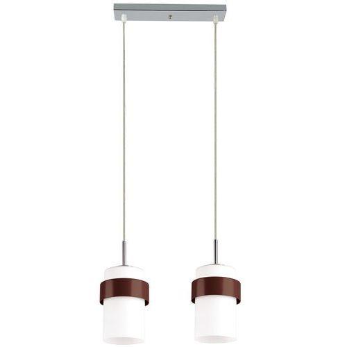 Lampa wisząca LIGHT PRESTIGE Miele LP-866/2P Brązowy + DARMOWY TRANSPORT!, kolor Biały