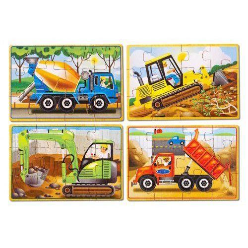Puzzle drewniane w pudełku - budowa - marki Melissa & doug