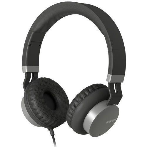 Słuchawki nauszne AUDICTUS Creator z mikrofonem Czarno-szary