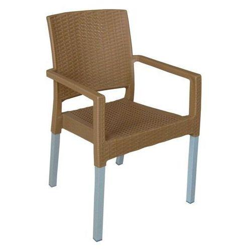MEGA PLAST krzesło MP692 RATAN LUX, w kolorze ochry
