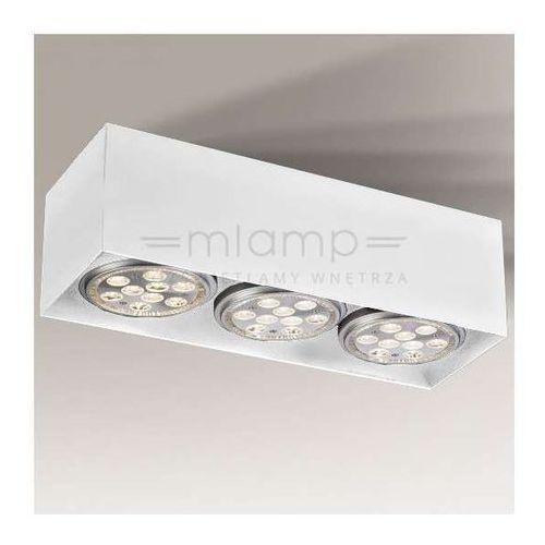 Shilo Spot lampa sufitowa yatomi 7135 metalowa oprawa regulowana listwa prostokątna biała