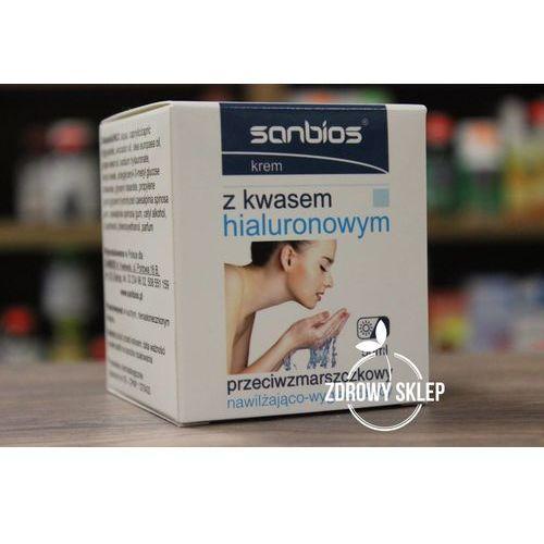 krem z kwasem hialuronowym przeciwzmarszczkowy dzień noc 50ml marki Sanbios