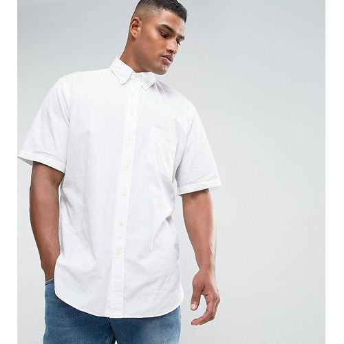 Polo Ralph Lauren Big & Tall Seersucker Shirt Short Sleeve Slim Fit in White - White