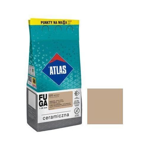 Fuga ceramiczna 020 beżowy 5 kg marki Atlas