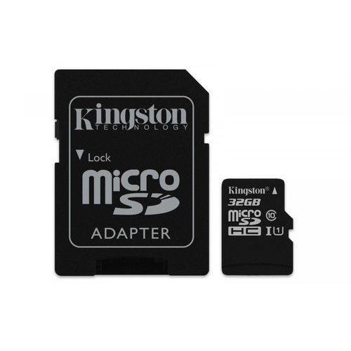Karta pamięci micro sd class 10 canvas select 32gb + adaptersd marki Kingston