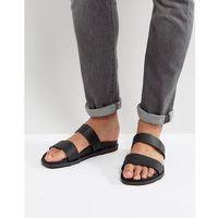 Call it spring ricoberht double strap sandals in black - black