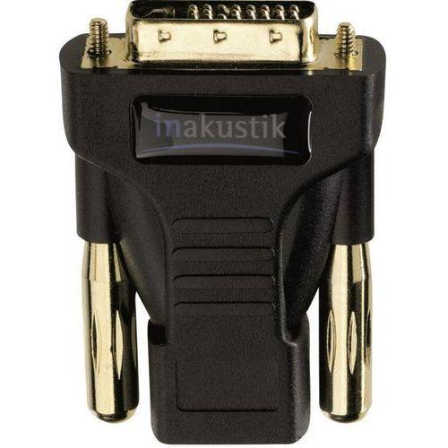 Przejściówka, adapter HDMI, DVI Inakustik 83240 0083240, [1x złącze żeńskie HDMI - 1x złącze męskie DVI 24+1-pin], 0 m, czarny, 83240
