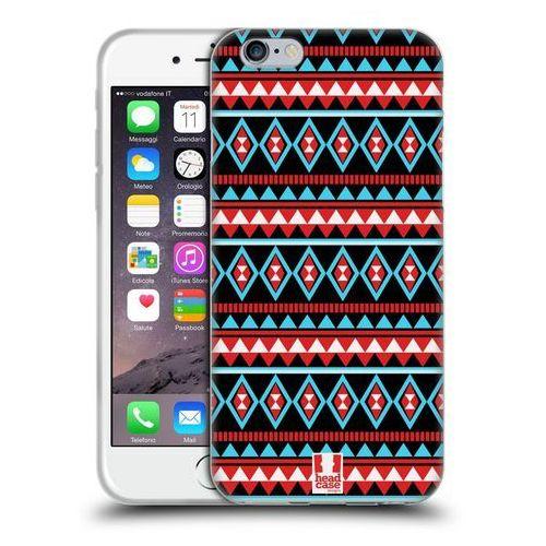 Head case Etui silikonowe na telefon - aztec patterns red and blue
