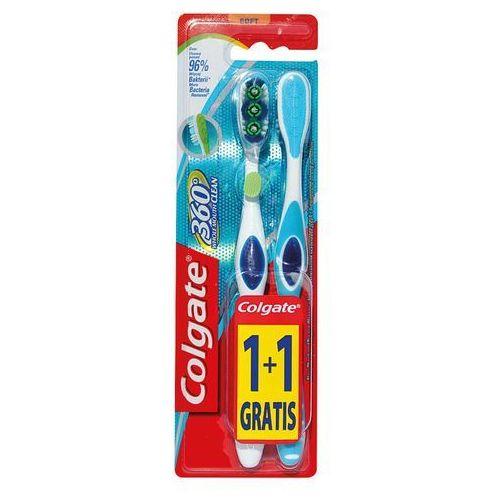 360 whole mouth clean soft, szczoteczka do zębów 1+1szt marki Colgate