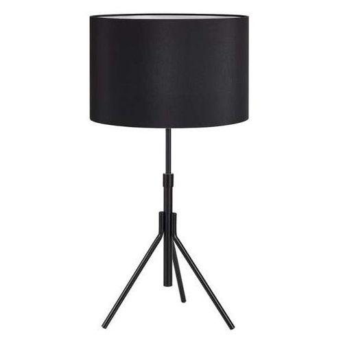 Markslojd Stojąca lampka nocna sling 107304 abażurowa lampa okrągła do sypialni czarna (7330024577428)
