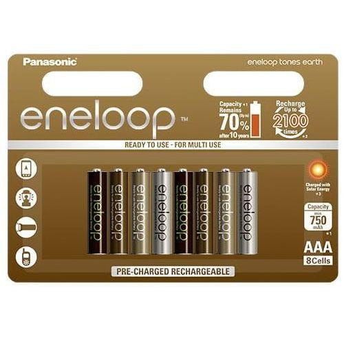 Akumulatory PANASONIC Eneloop Tones Earth R03 AAA 750mAh 8szt., BK-4MCCE/8UE