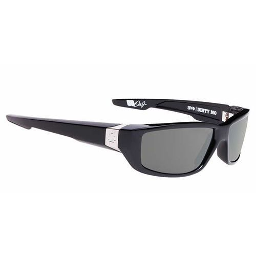 Spy Okulary słoneczne dirty mo polarized black w/signature-happy grey green polar