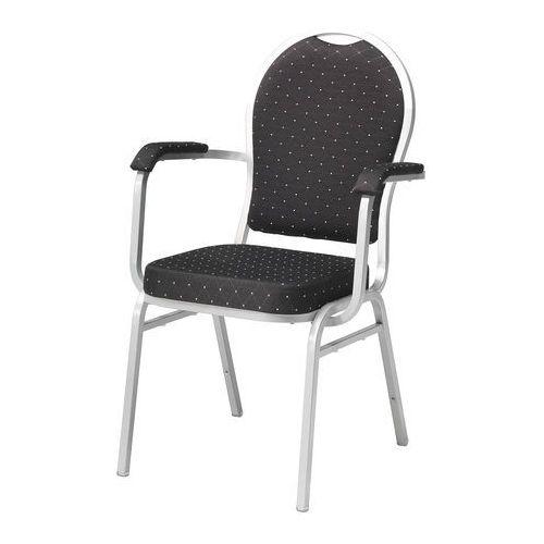 Krzesło bankietowe Seattle z podłokietnikami czarny szary