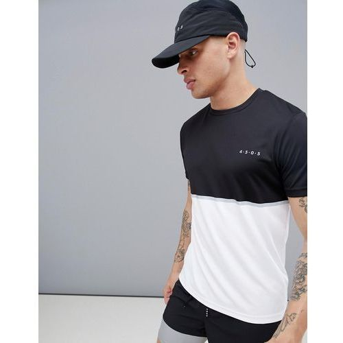 Asos 4505 training t-shirt with quick dry and contrast panel - multi
