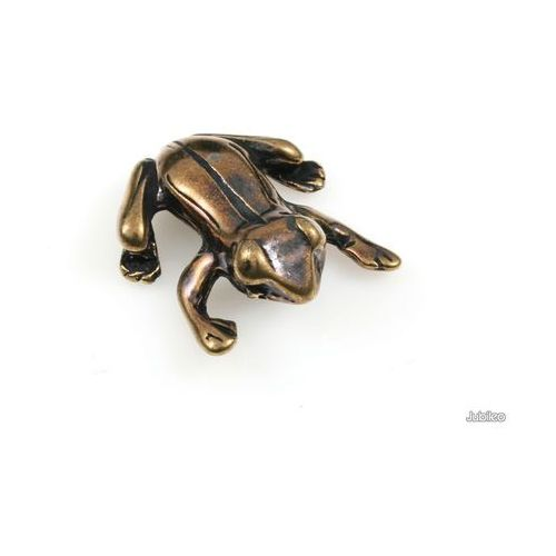 Figurka żabka złota amulety talizmany symbole chińskie kolor stare złoto marki Jubileo.pl