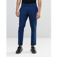 Religion skinny cropped trousers in check - blue