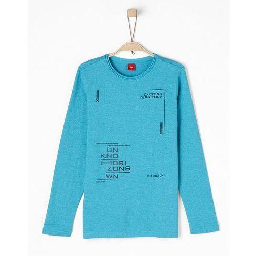 S.oliver red label bluzka z długim rękawem blue green melange
