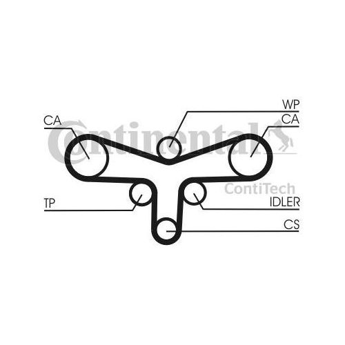 Contitech Pompa wodna + zestaw paska rozrządu  ct1015wp1 (4010858576745)