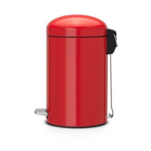 - kosz pedałowy 'retro' - wiaderko plastikowe – 12l - czerwony passion wyprodukowany przez Brabantia