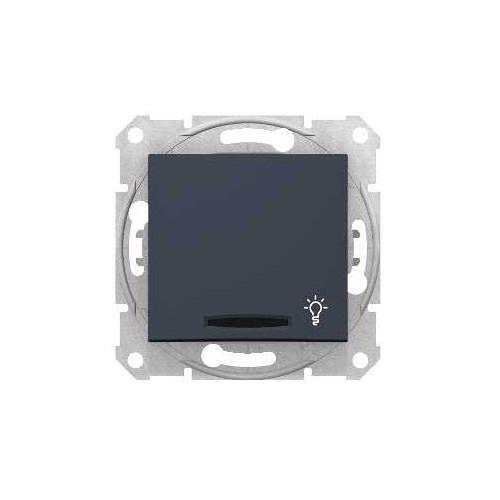"""Przycisk """"światło"""" Schneider Sedna SDN1800170 zwierny z podświetleniem grafit"""