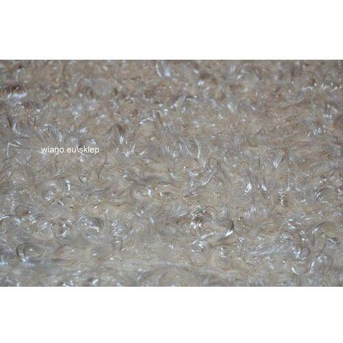 Chodnik bawełniany ręcznie tkany ecru z połyskiem 65x150 cm