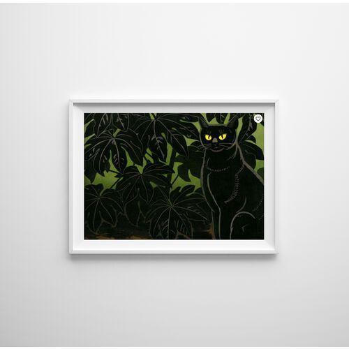 Plakaty w stylu retro Plakaty w stylu retro Kot i krzaki autorstwa Tomoo Inagaki