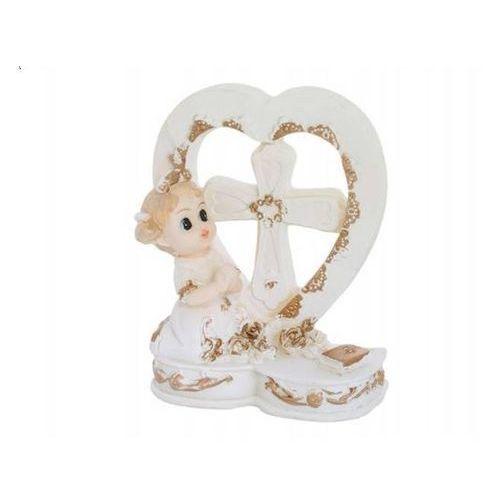 Party deco Figurka gipsowa komunijna dziewczynka, 9 cm, 1 szt. (5901157415486)