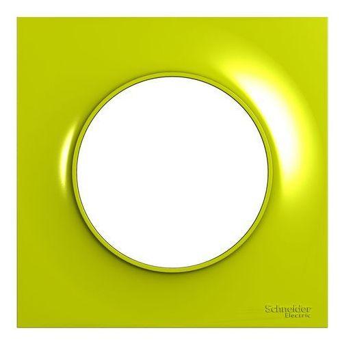 Ramka pojedyncza Schneider Electric Odace żółta, S52P702H