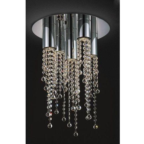 Italux Plafon lampa sufitowa larix mx93708-5a kryształowa oprawa glamour crystal chrom przezroczysta (5900644341758)