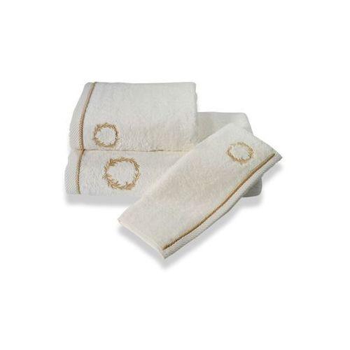 Podarunkowy zestaw ręczników SEHZADE, 2 szt Śmietankowy / złoty haft
