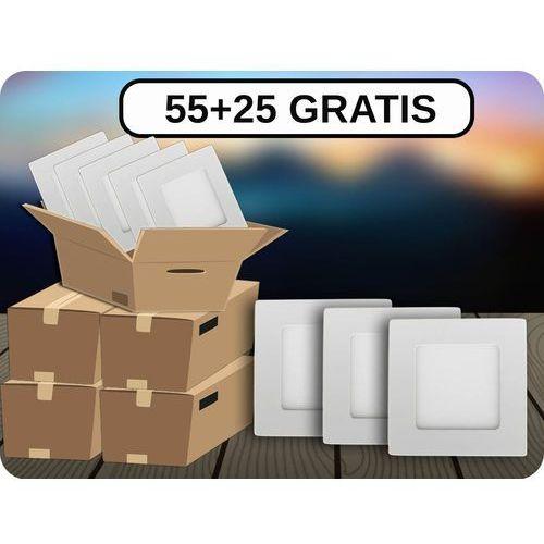 Panel LED 6W (420LM), 55+25 GRATIS! + Bezpłatna natychmiastowa gwarancja wymiany! Ciepła biała 3000K, 4863-55PLUS25