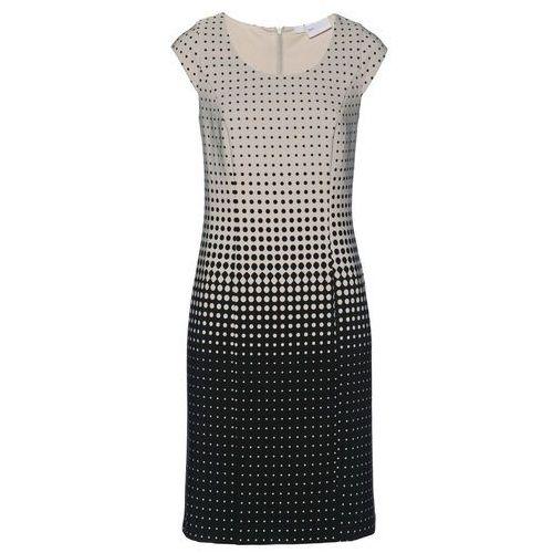 Sukienka z założeniem kopertowym kremowy marki Bonprix