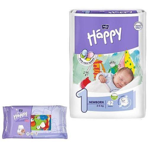 Pieluszki Happy Newborn 6x42szt.+ 4x Chusteczki nasączone z wit.E (5900516600693)