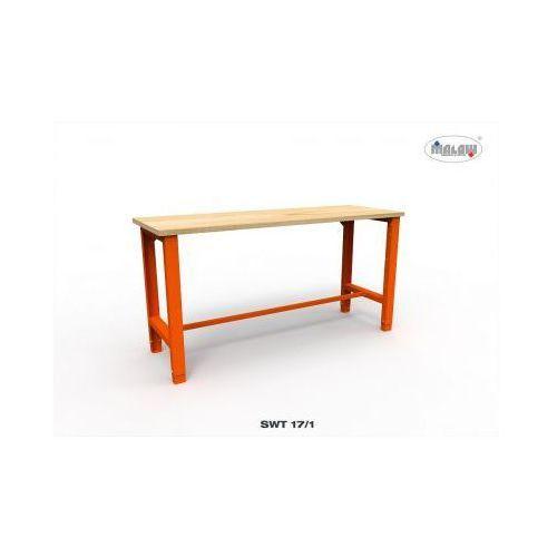 Stół warsztatowy swt 17/01 trójka z blatem roboczym nośność 600 kg marki Malow