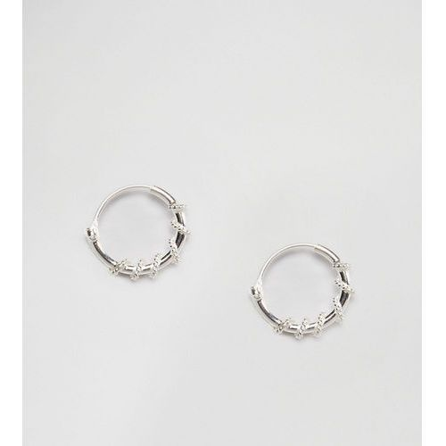 Kingsley ryan sterling silver 10mm twist hoop earrings - silver