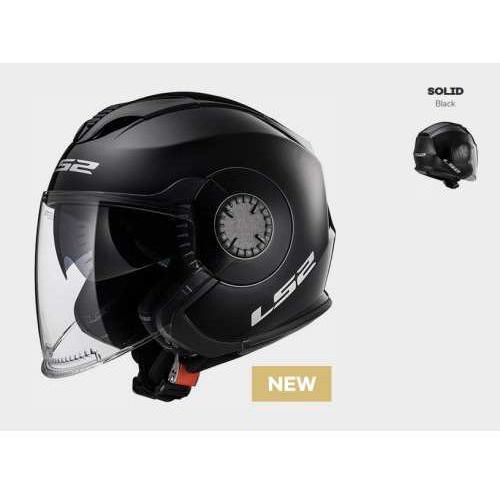 Ls2 Kask of570 verso solid black