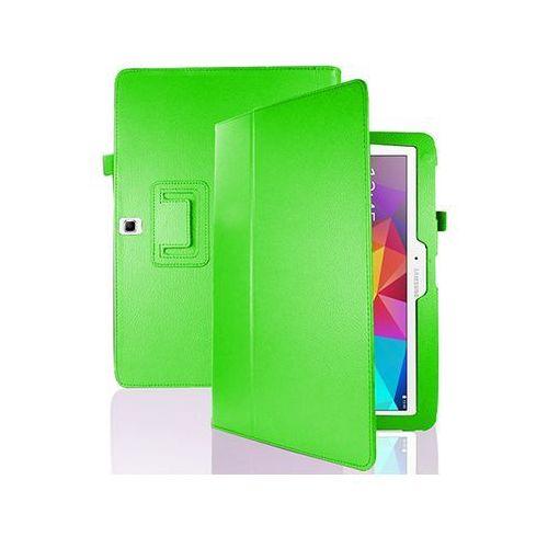 4w1 Etui stojak Samsung Galaxy Tab 4 10.1 + folia + ściereczka + rysik - Zielony, kolor zielony