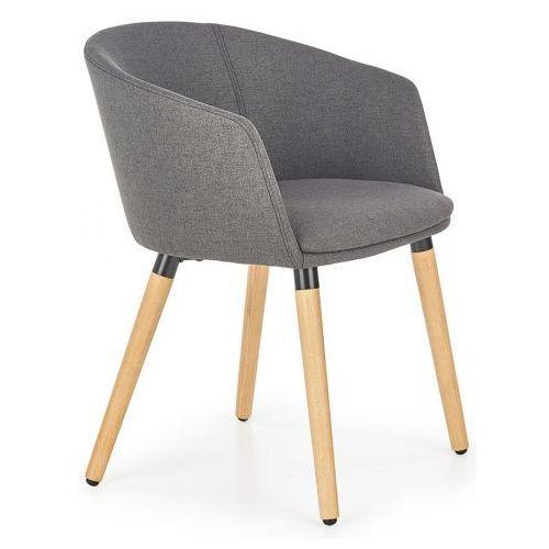 Krzesło skandynawskie Nevil - ciemny popiel, kolor szary